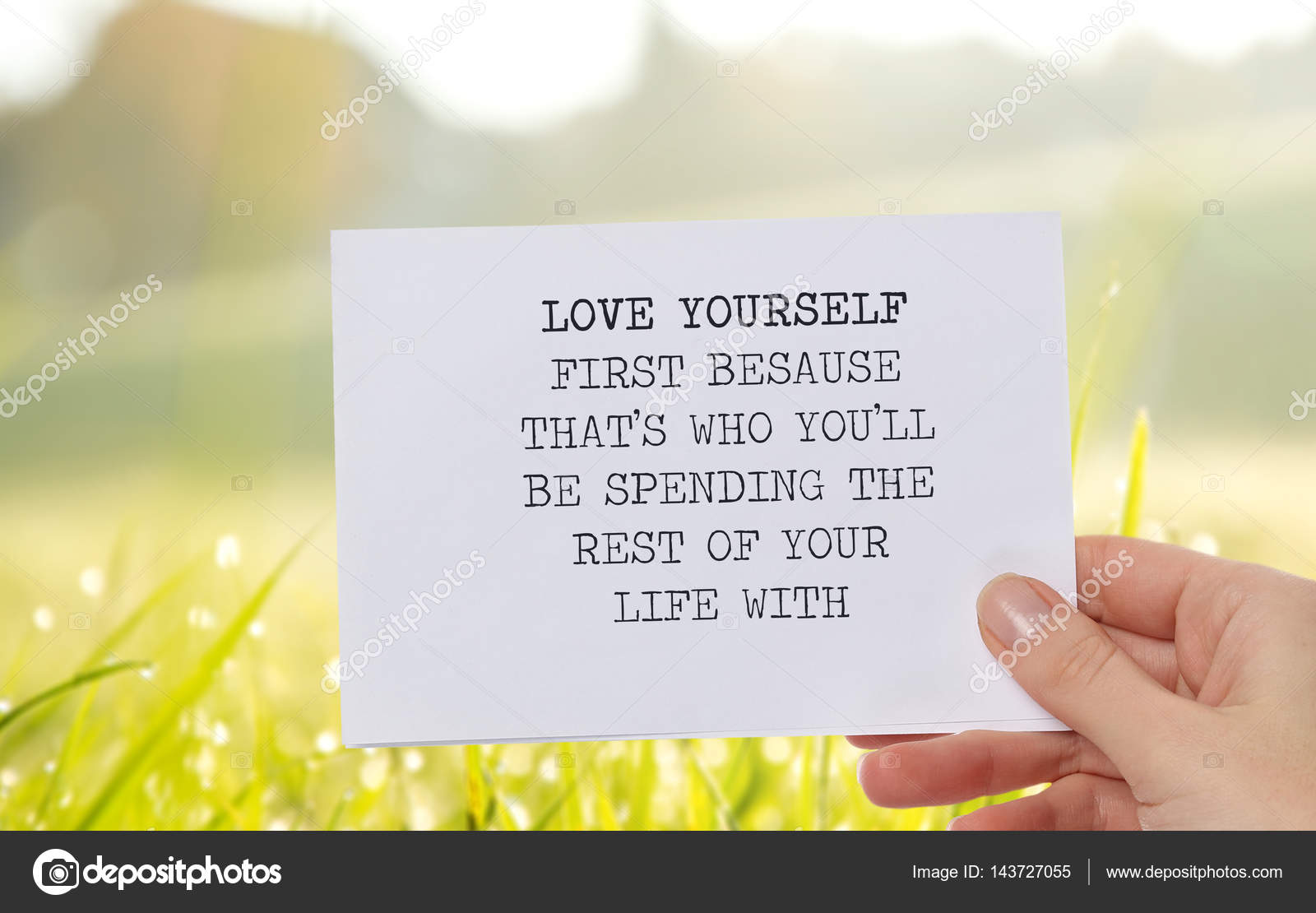 Motivation Inspirational Quote Love Yourself First Because That S