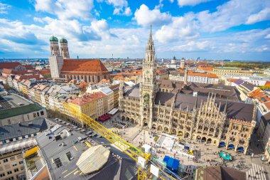 Marienplatz town hall and Frauenkirche in Munich, Germany