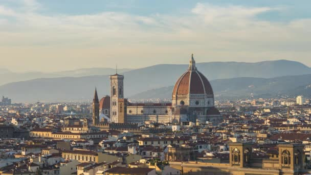 Sunset view of Florence city skyline in Florence, Italy time lapse.