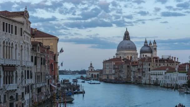Venezia city skyline at sunet with landmark buildings in Venice, Italy.