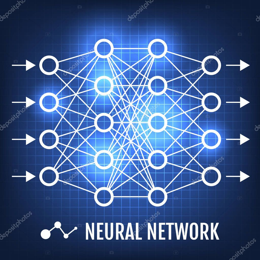 Neural Network. Machine Learning concept vector illustration