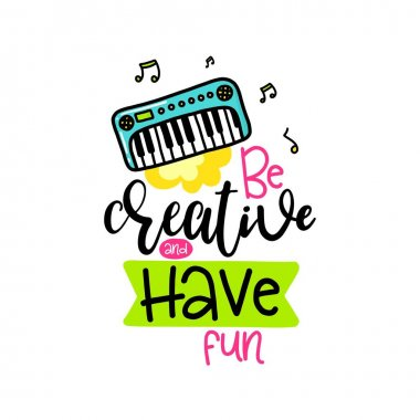 Creative typography card with phrase