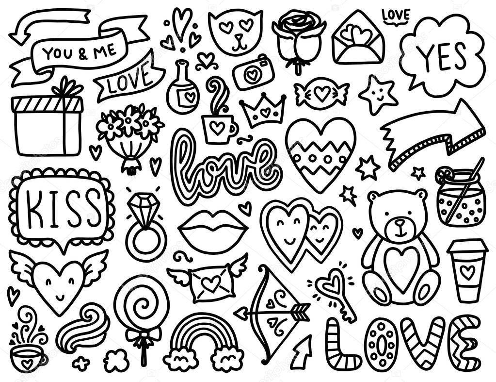 Навруз, раскраска сердечки много на одном листе