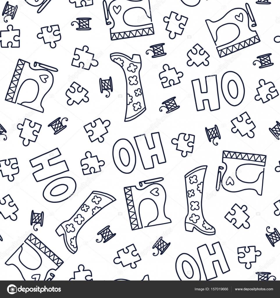 Doodles lindos patrones sin fisuras — Vector de stock © Qilli #157019666