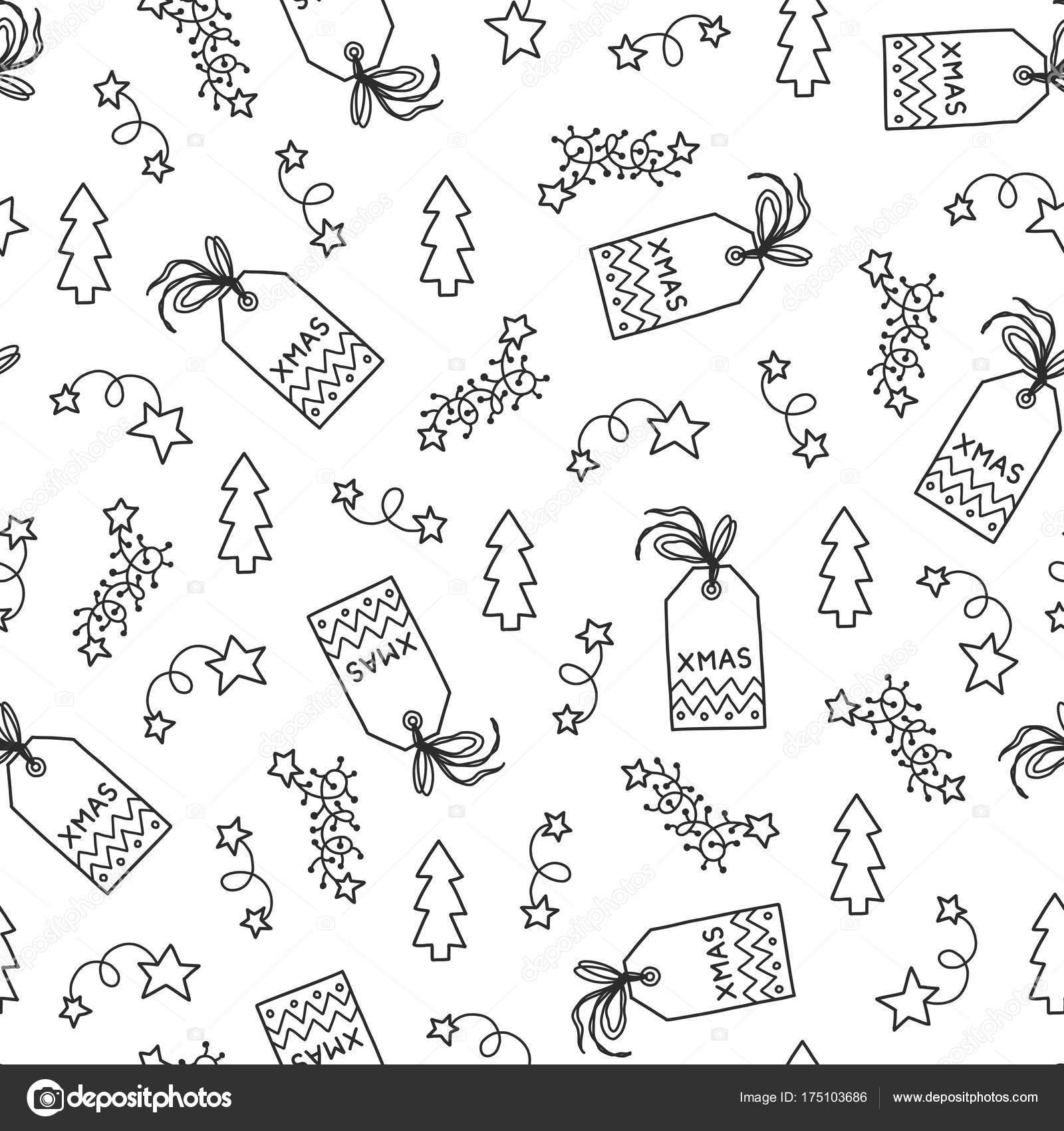 patrón sin costuras de Navidad — Archivo Imágenes Vectoriales ...