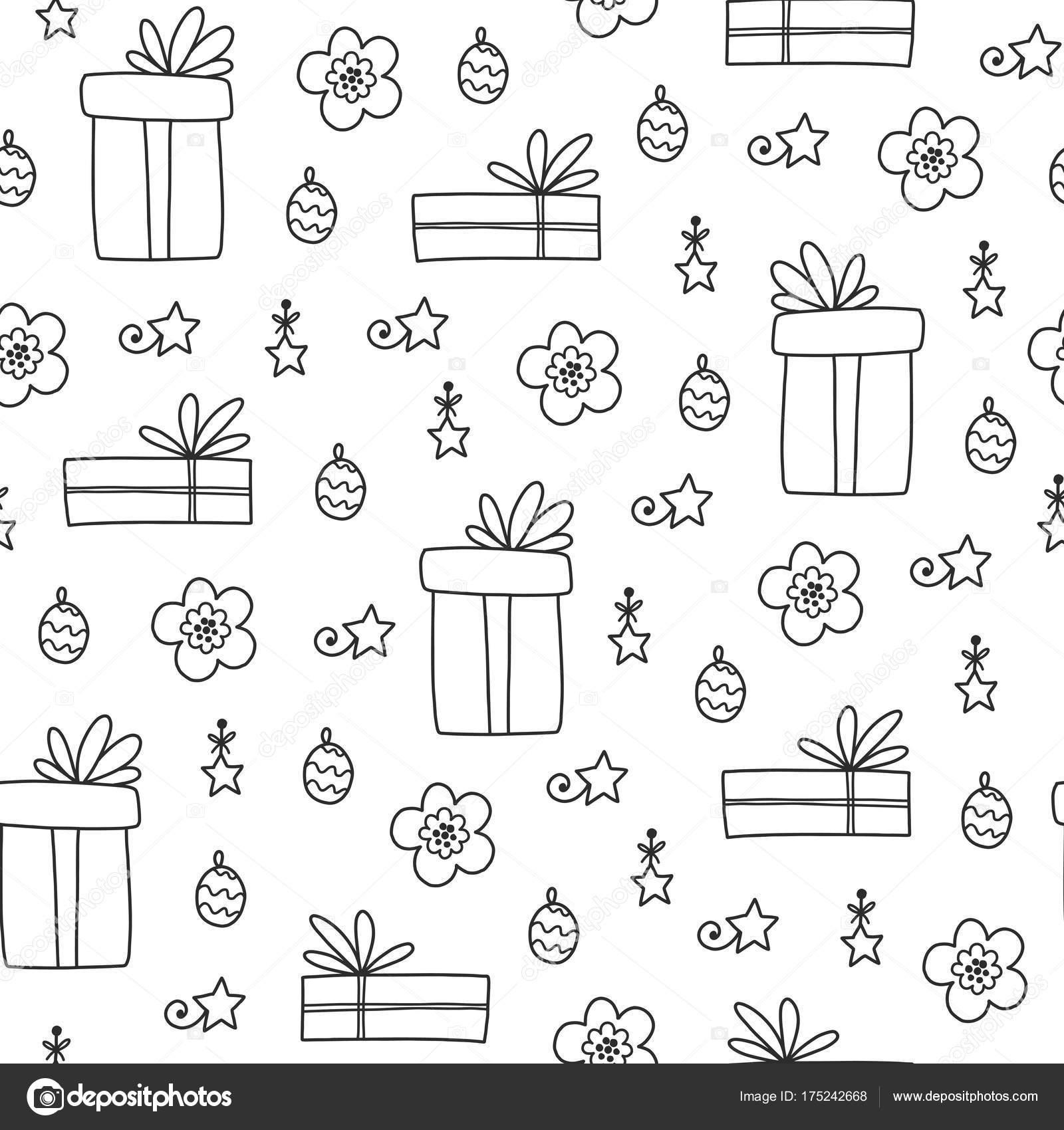 patrón sin costuras de Navidad — Vector de stock © Qilli #175242668