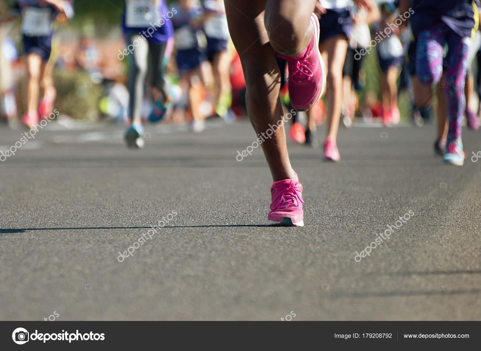 Running Children Young Athletes Run Kids Race Stock Photo