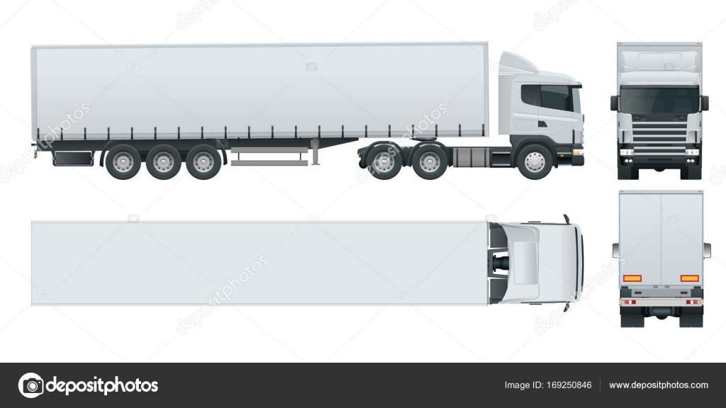 Camión Remolque Con Contenedor