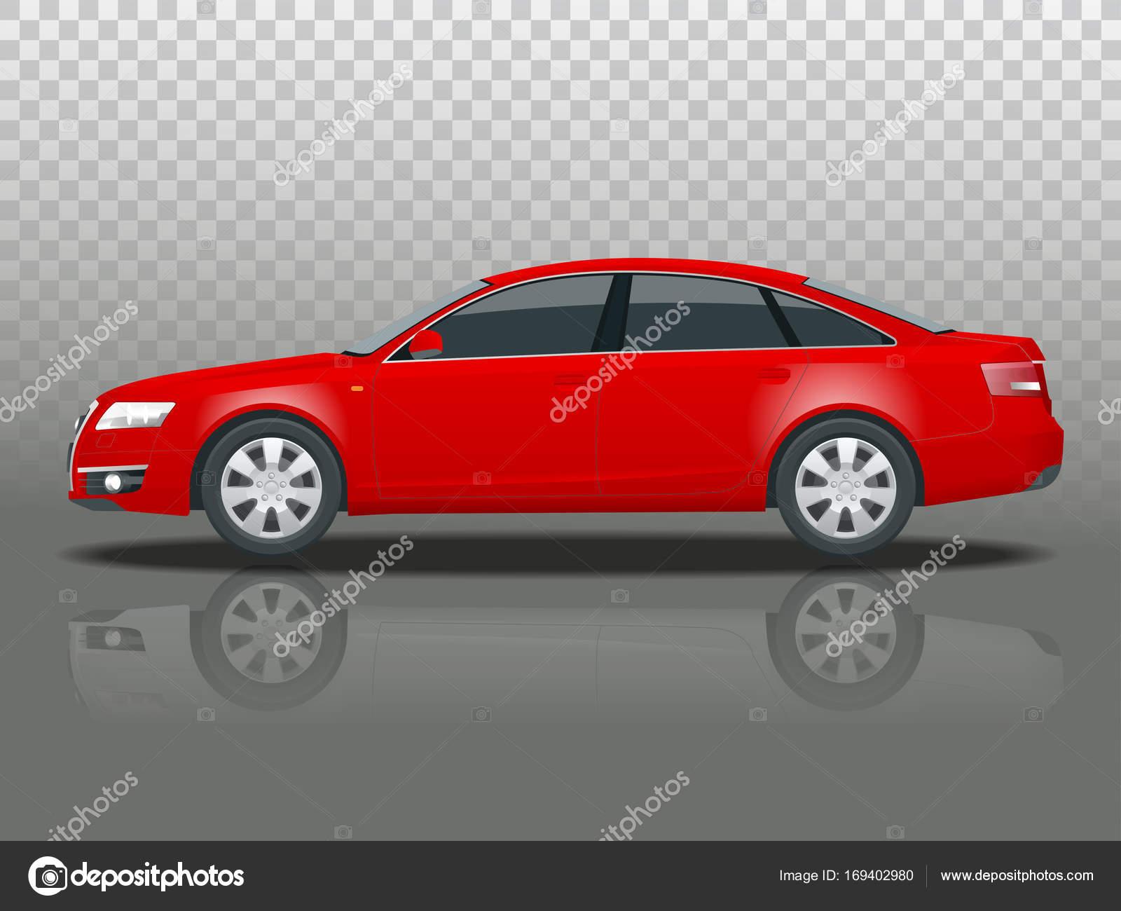 Seitenansicht des Business Limousine Fahrzeug Vorlage Vektor ...