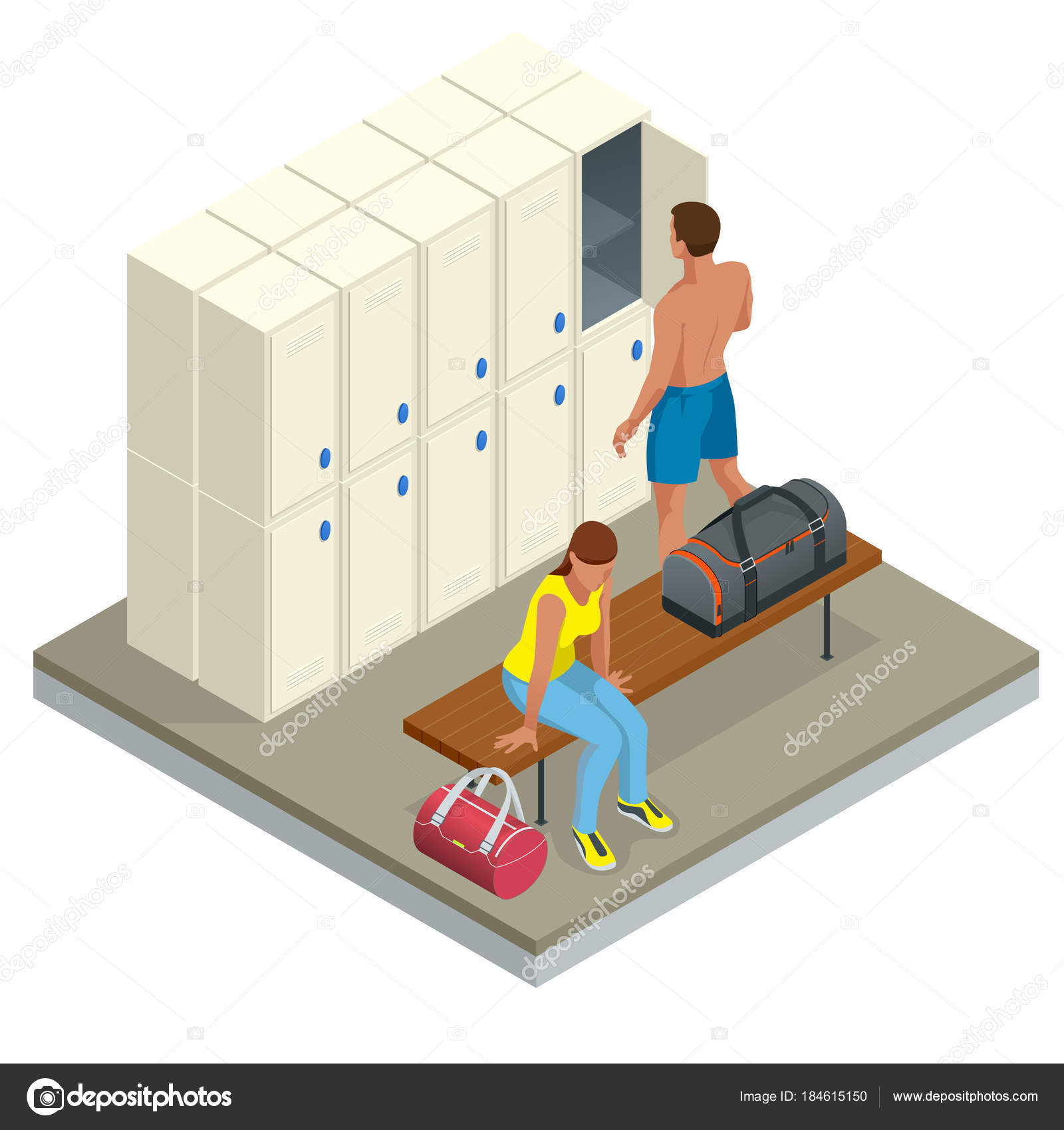 Шкафы для раздевалки   specmebelcom