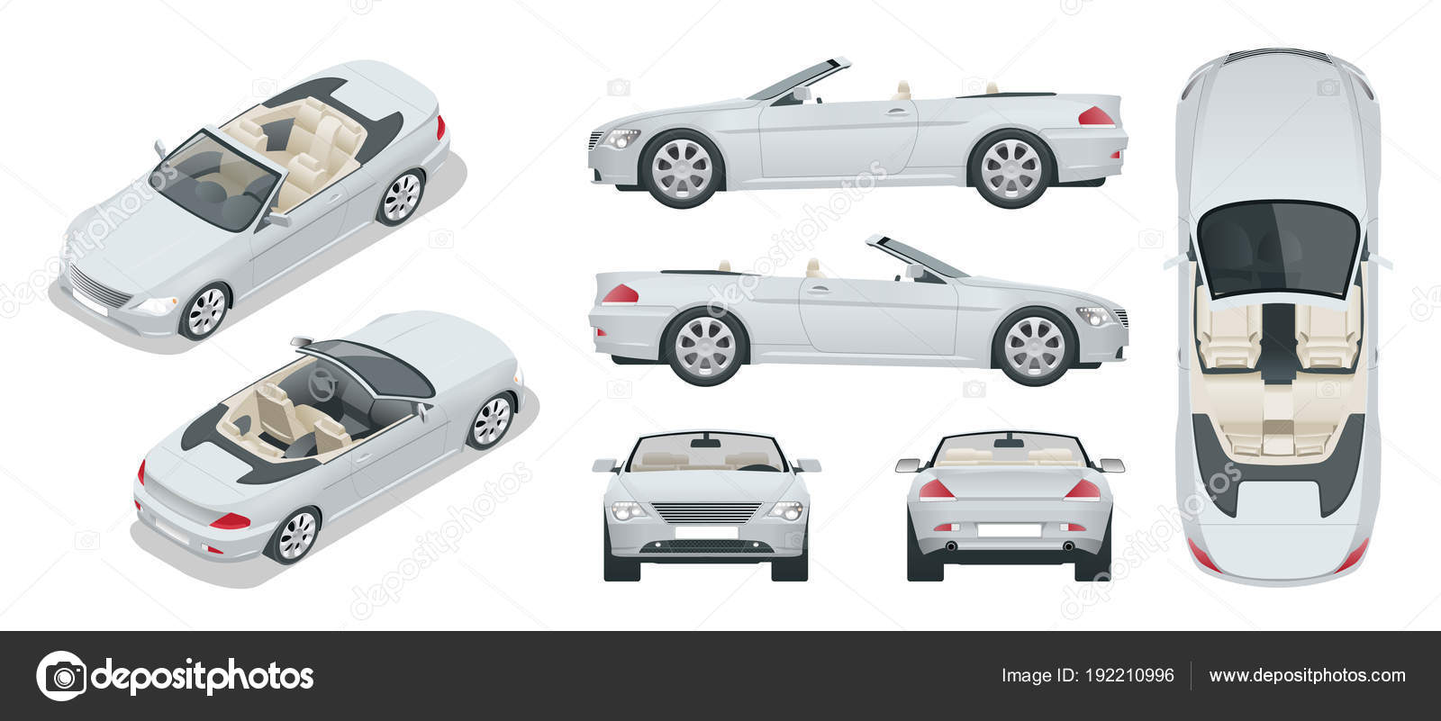 Transfer, Cabriolet car  Cabrio coupe vehicle template