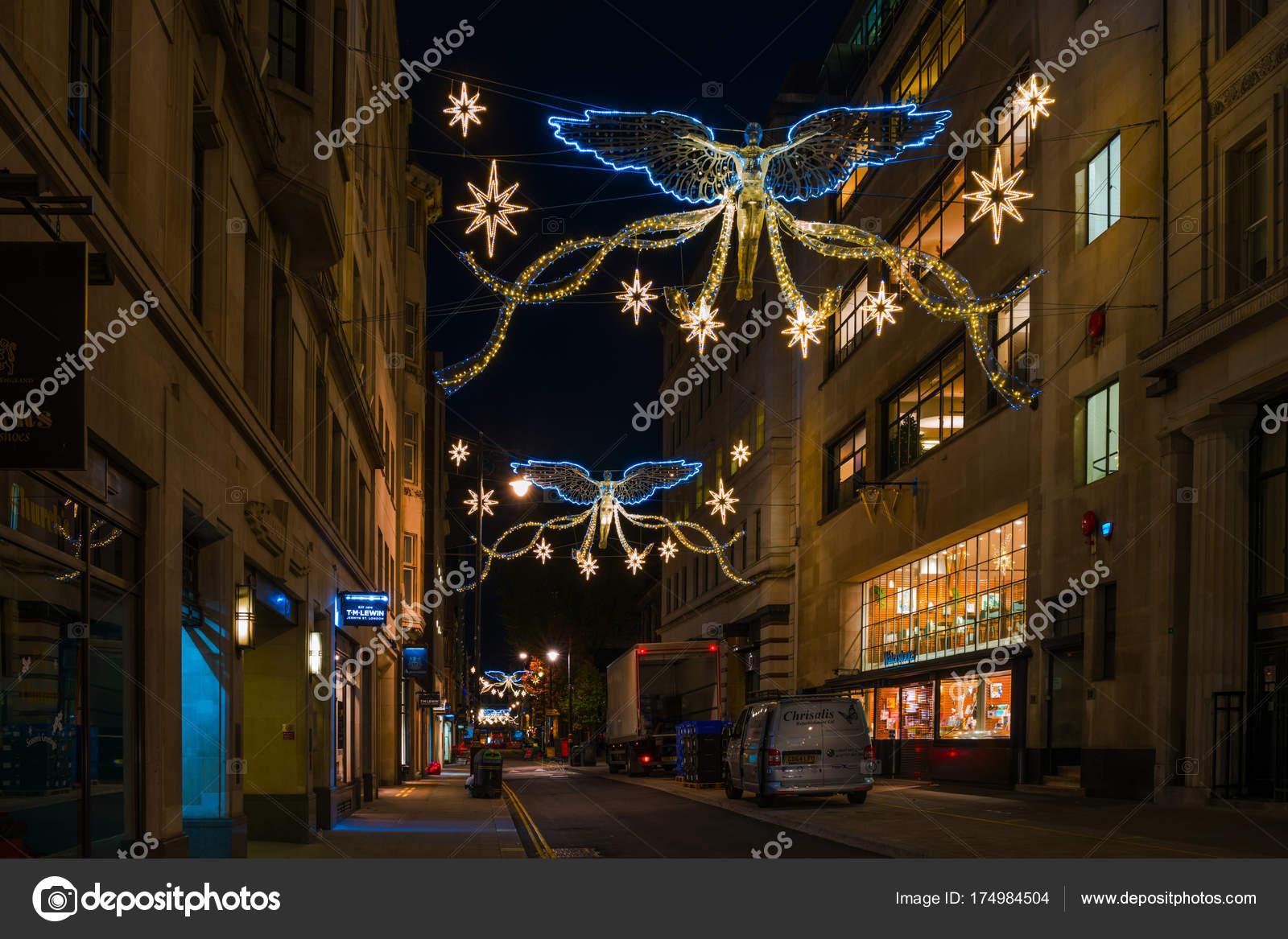 Decorazioni Natalizie Londra.Decorazioni Di Natale Su Jermyn Street Londra U Foto Editoriale