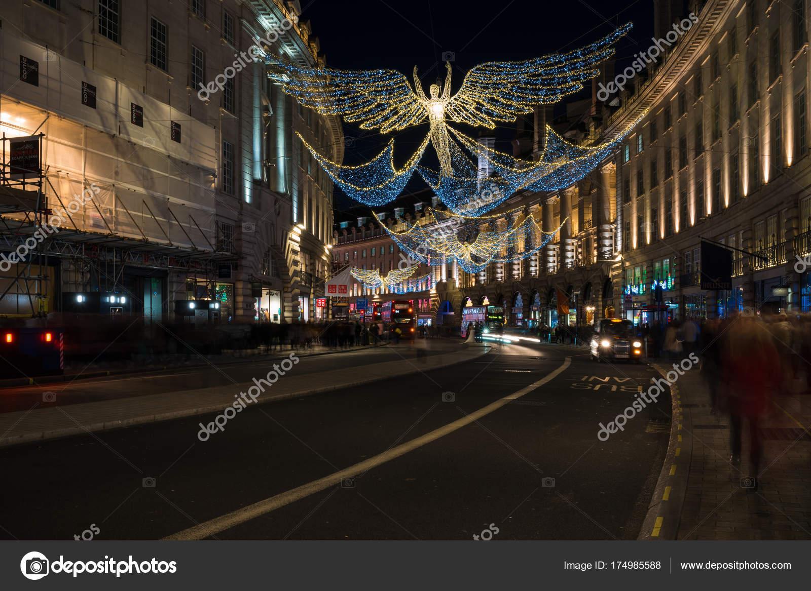 Decorazioni Natalizie Londra 2019.Decorazioni Di Natale Su Regent Street Nel Centro Di Londra Regno