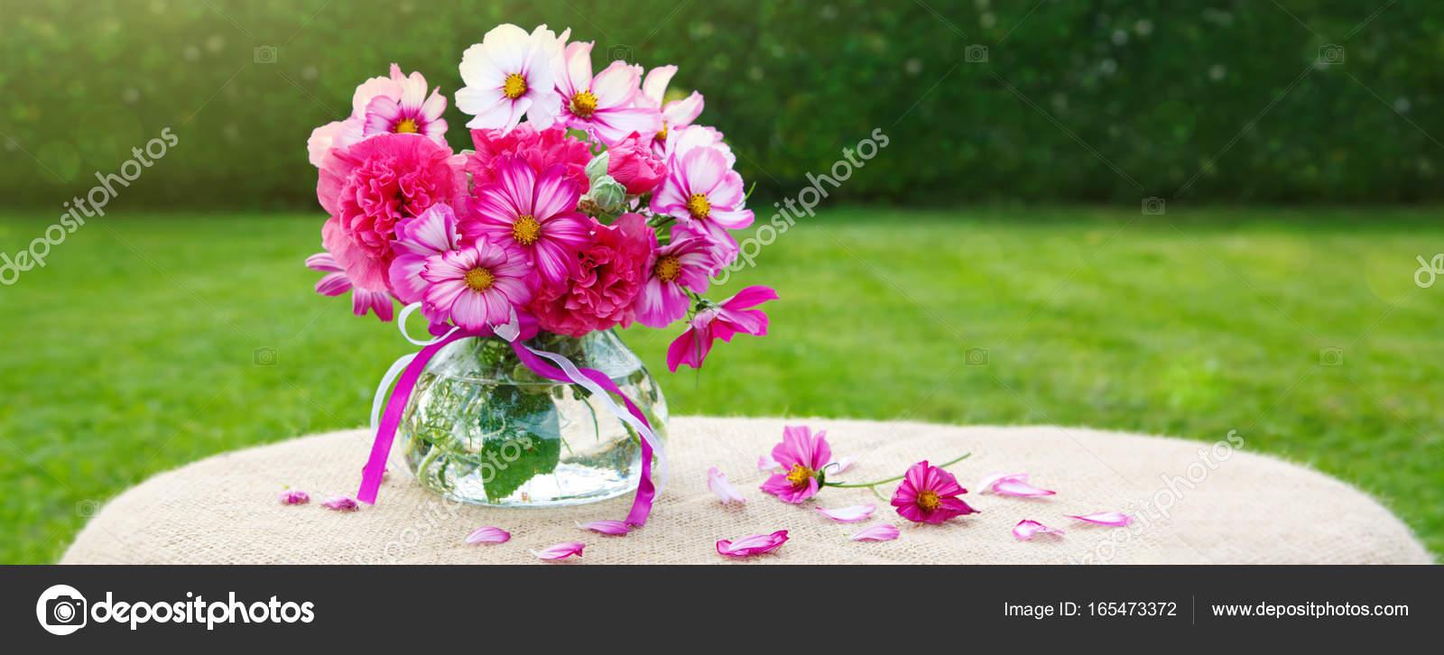 Buquê Colorido Flores Cartão De Férias Stock Photo Swkunst