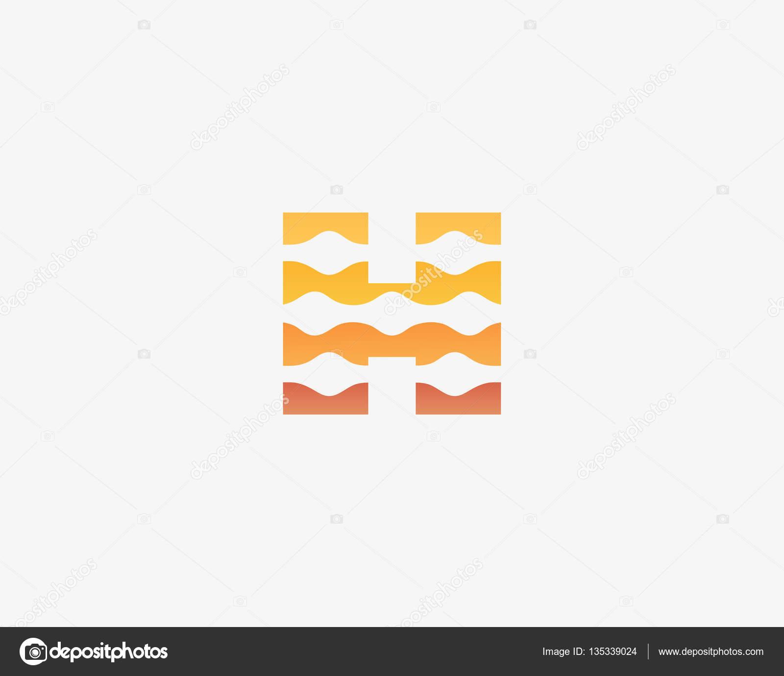 Resumen carta H icono vector logos. Biotecnología colorido universal ...