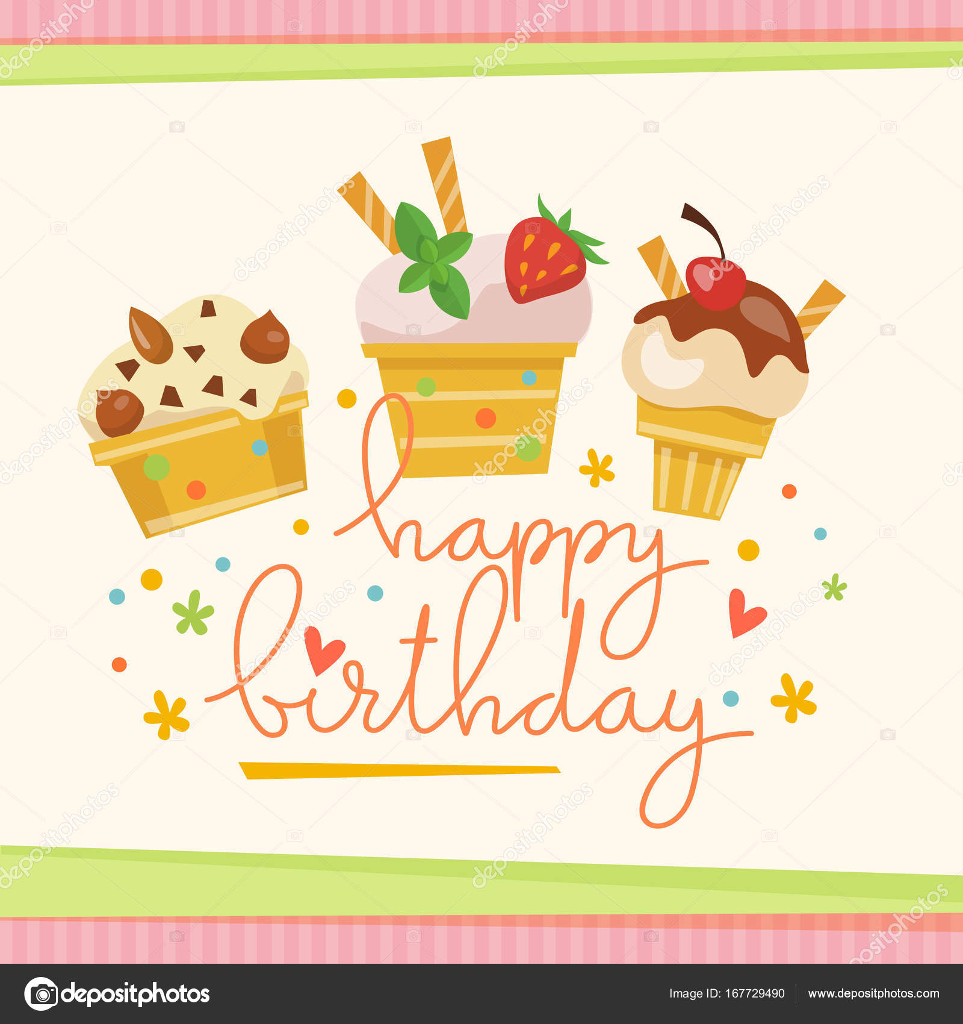 Happy birthday greeting card — Stock Vector © giraffarte