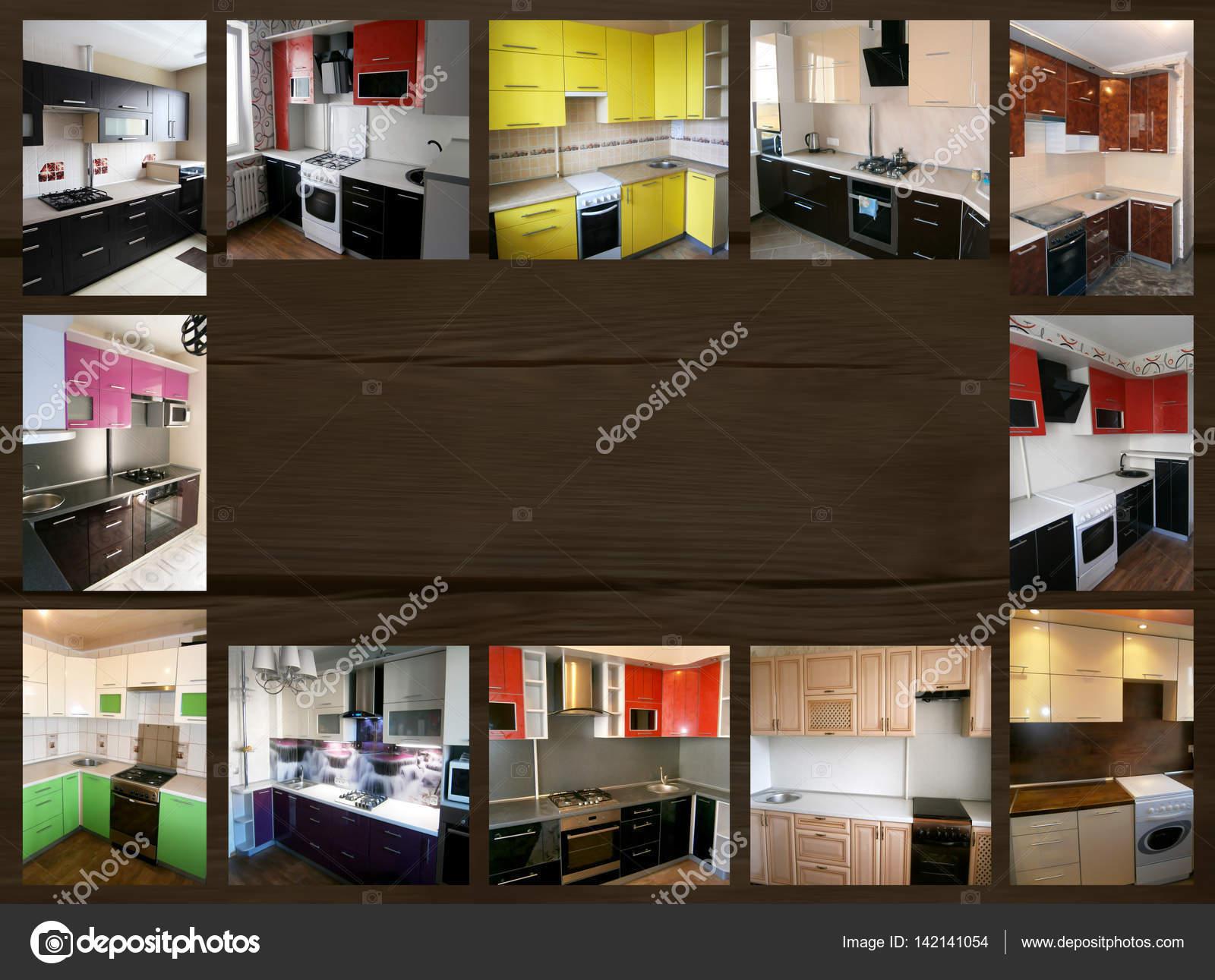 Collage zum Thema Möbel. Küche — Stockfoto © markasia #142141054