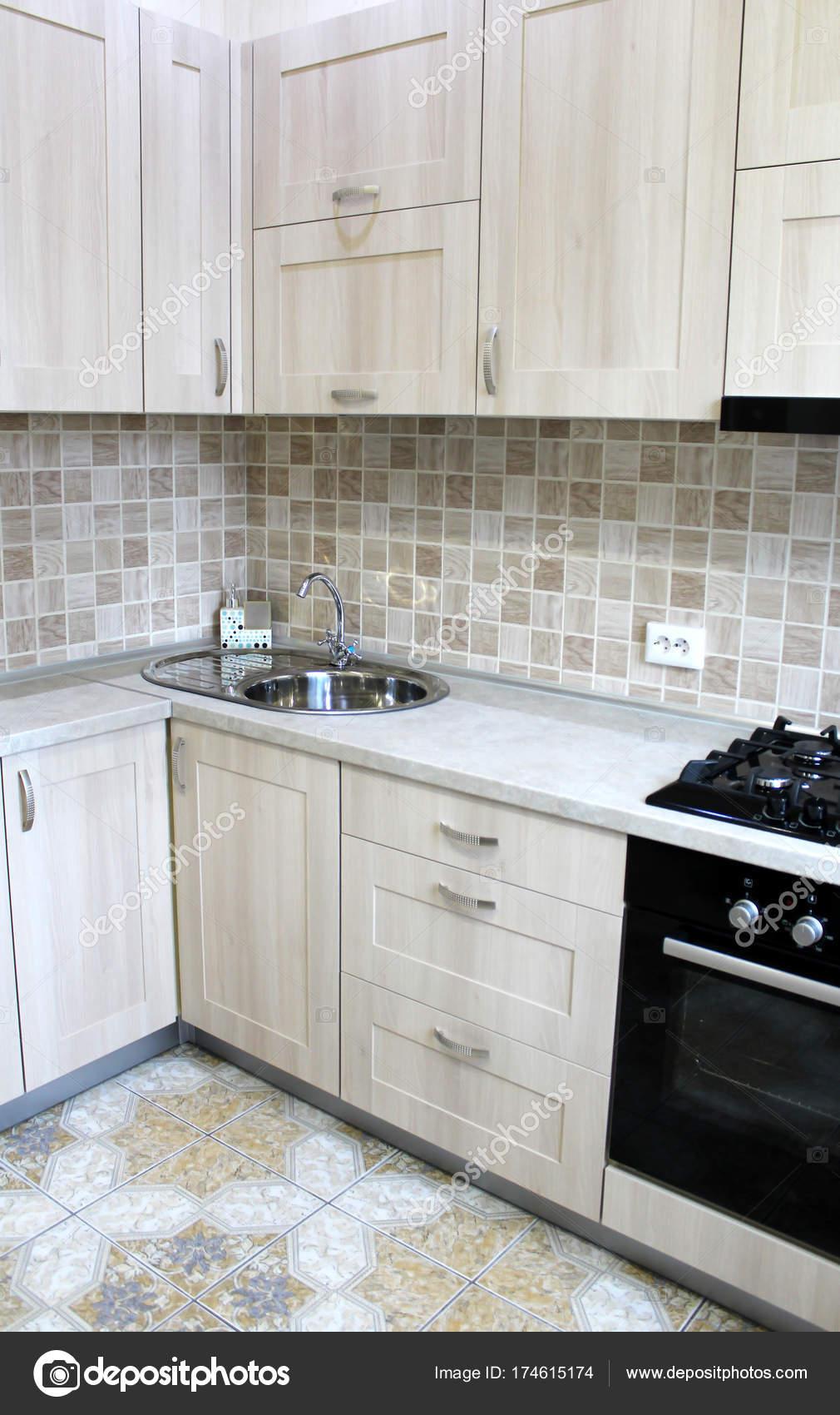 Grey kitchen cabinets. Interior design 9