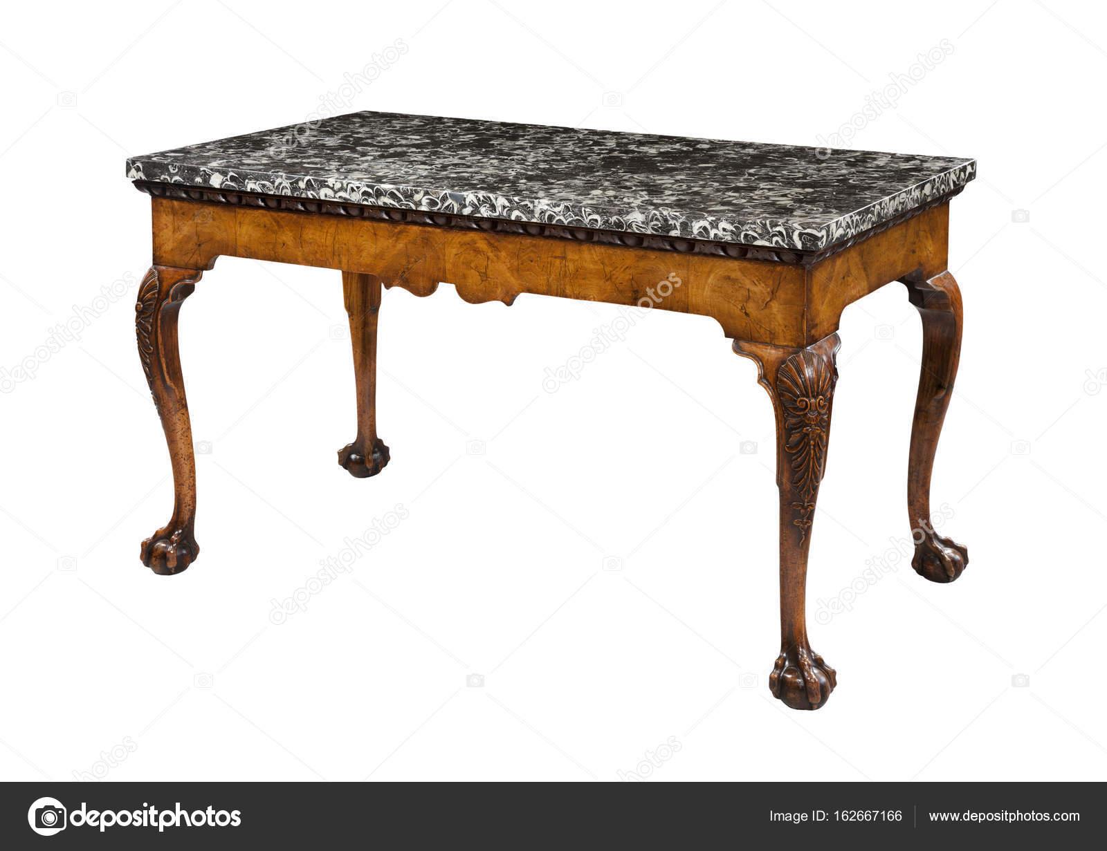 Antieke Bijzettafel Met Marmeren Blad.Tabel Met Marmeren Blad Stockfoto C Jak30 162667166