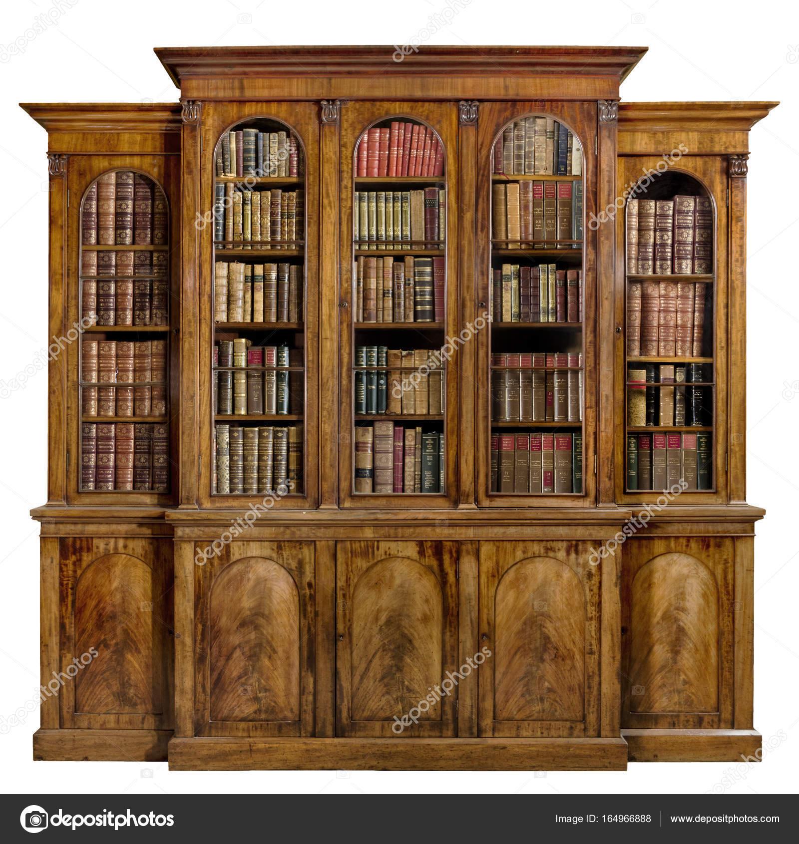 Boekenkast dressoir breakfront oude antieke deze Engels met boeken ...