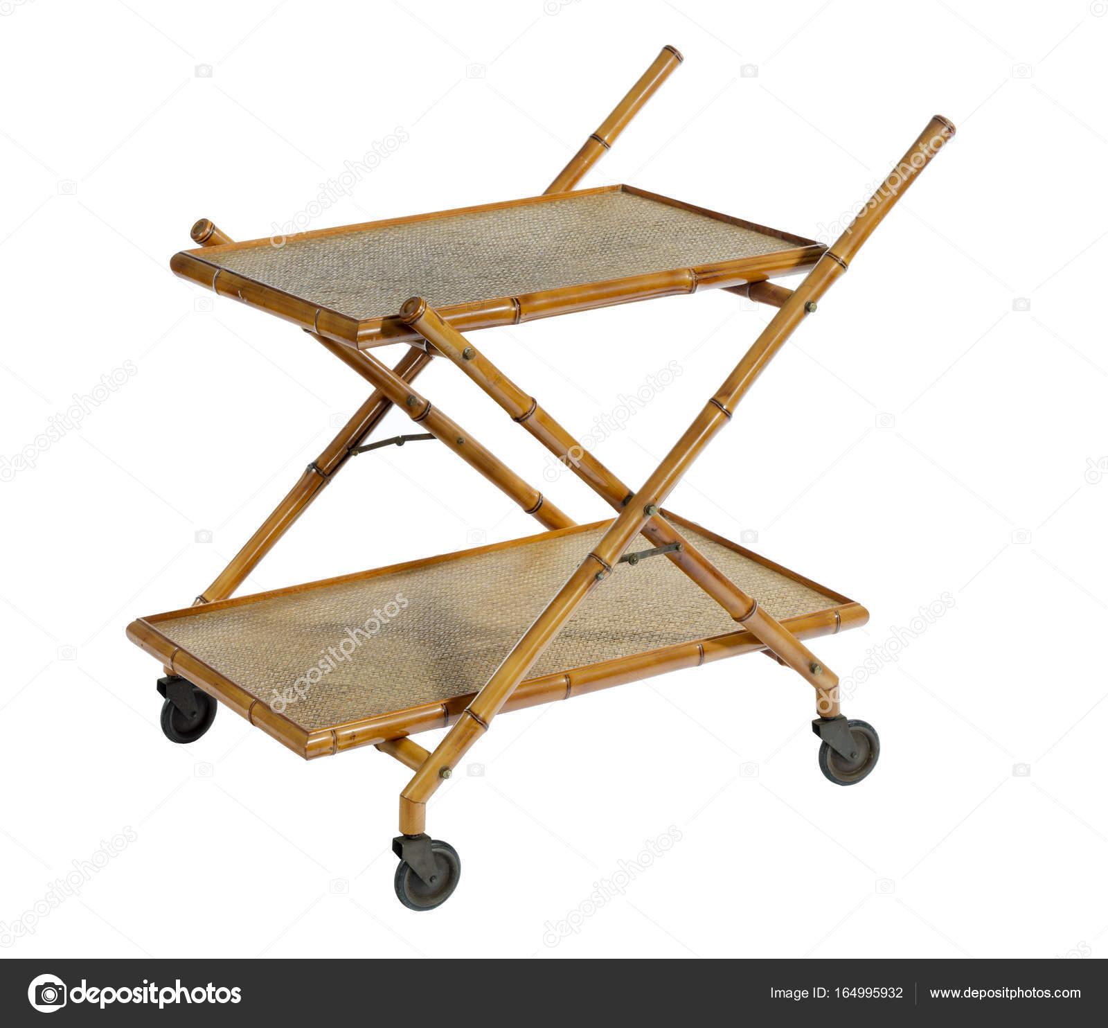 старые старинные сервировочный столик на колёсах для пищи