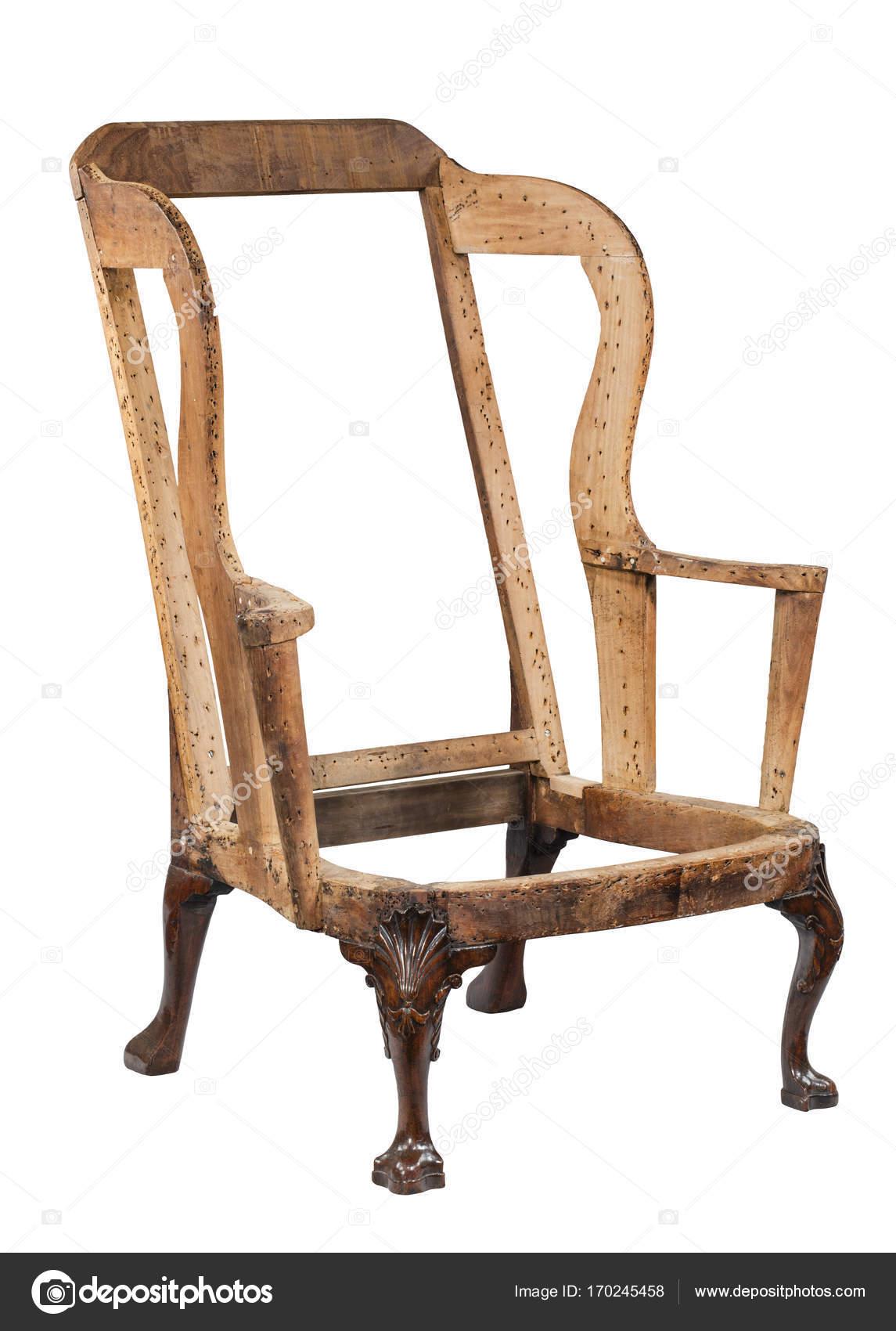traditionnel vieux fauteuil ne rembourré pas encore — Photographie ...