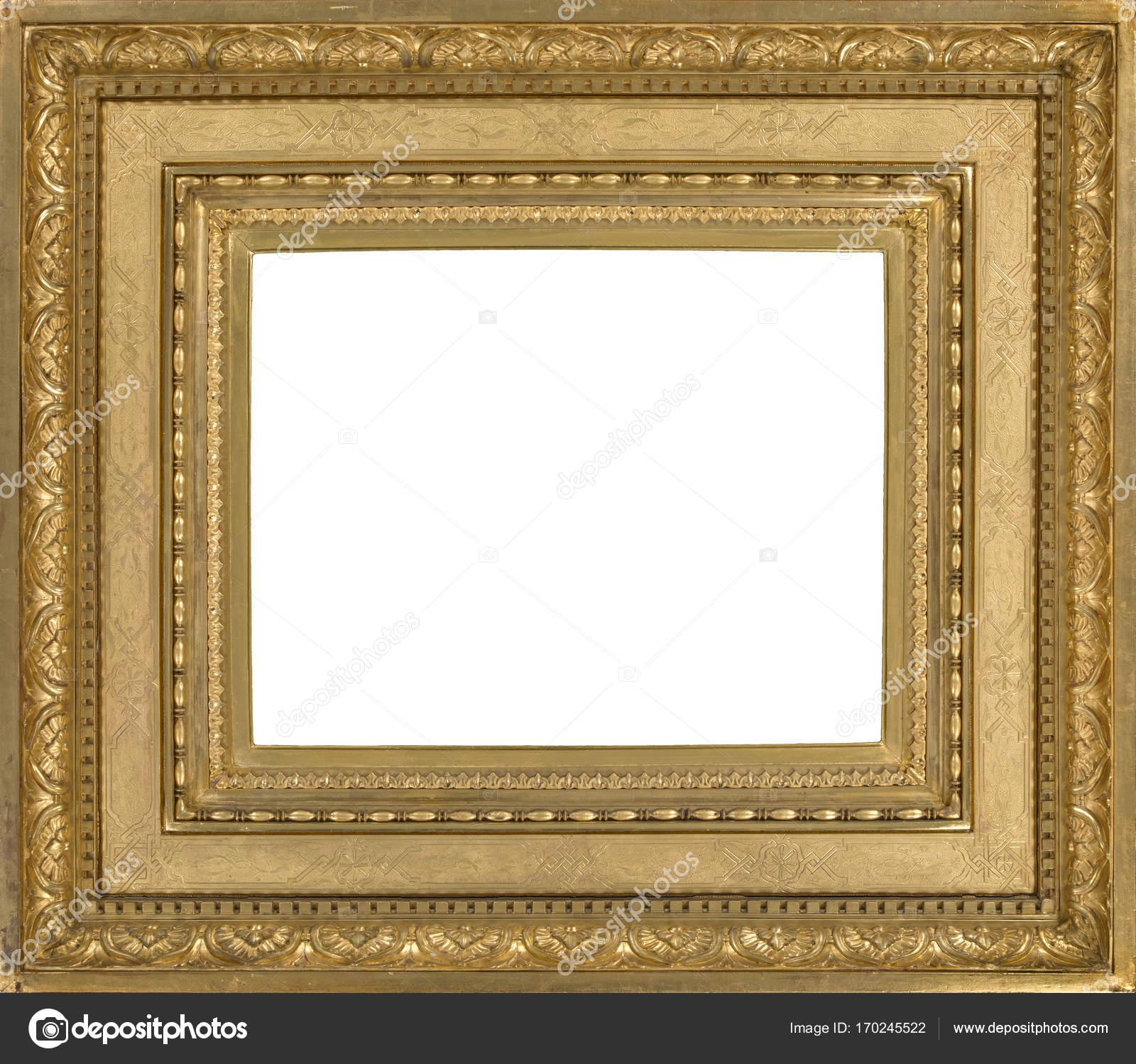 Leichte Holz Bilderrahmen vergoldet für Wandmontage — Stockfoto ...