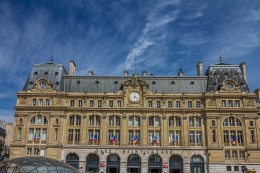 Gare Saint-Lazare facade in Paris
