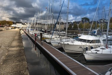 The Port of Vannes City as seen along the Quay of La Marle river