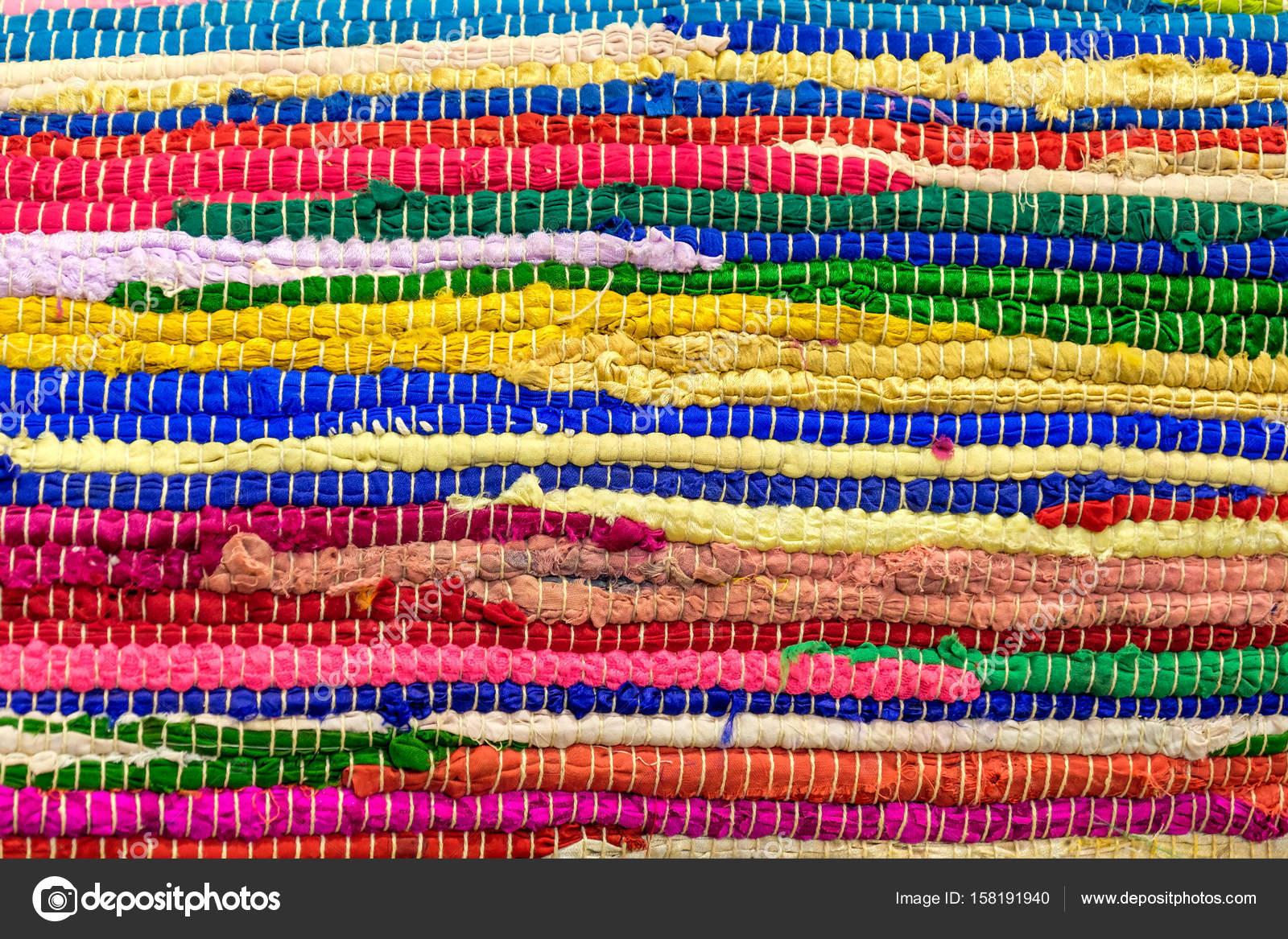 Kolorowe Ręcznie Tkane Dywany Zdjęcie Stockowe