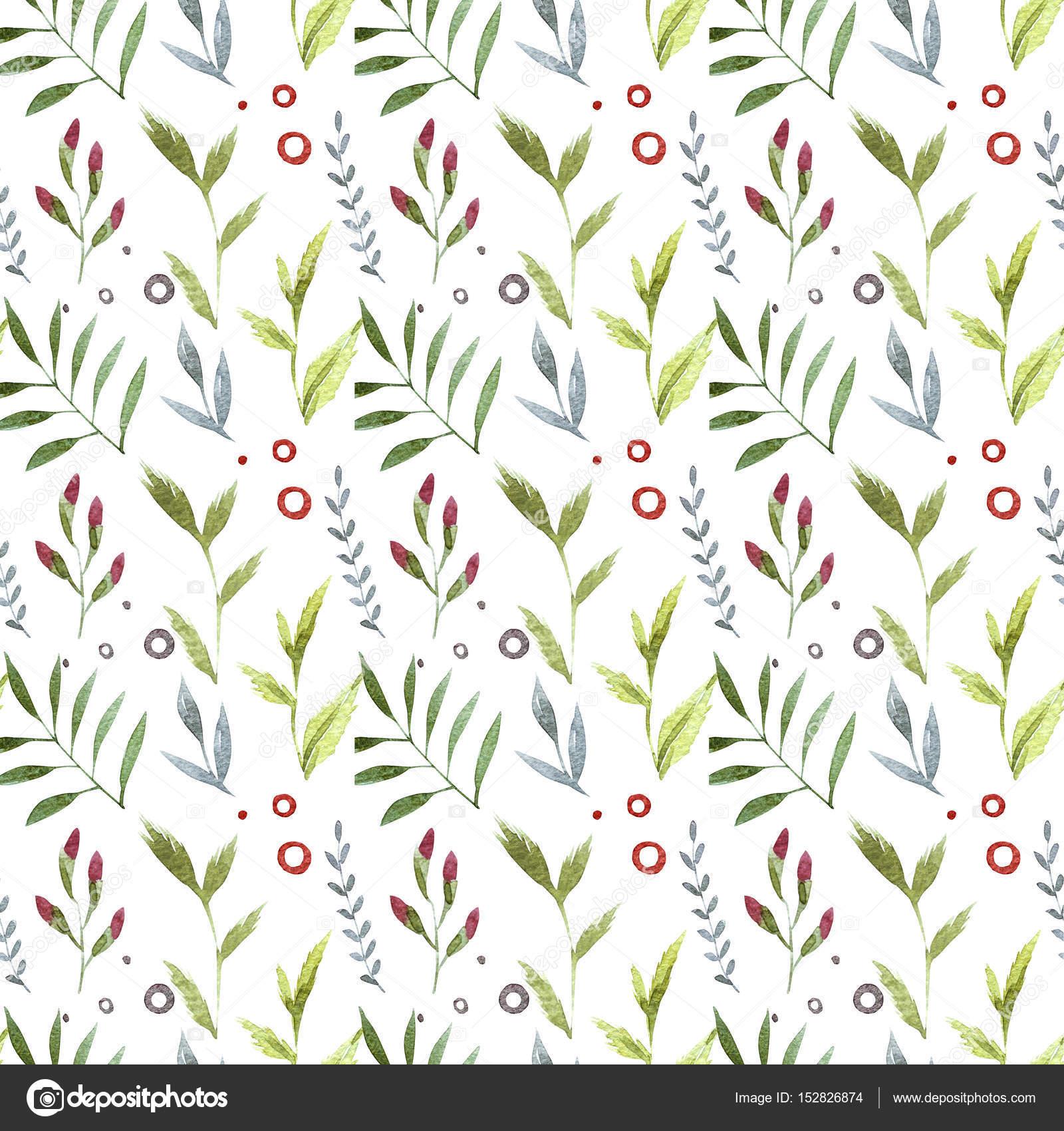 Sulu Boya şirin Süslü çiçekler Seamless Modeli Dekoratif Tarzı