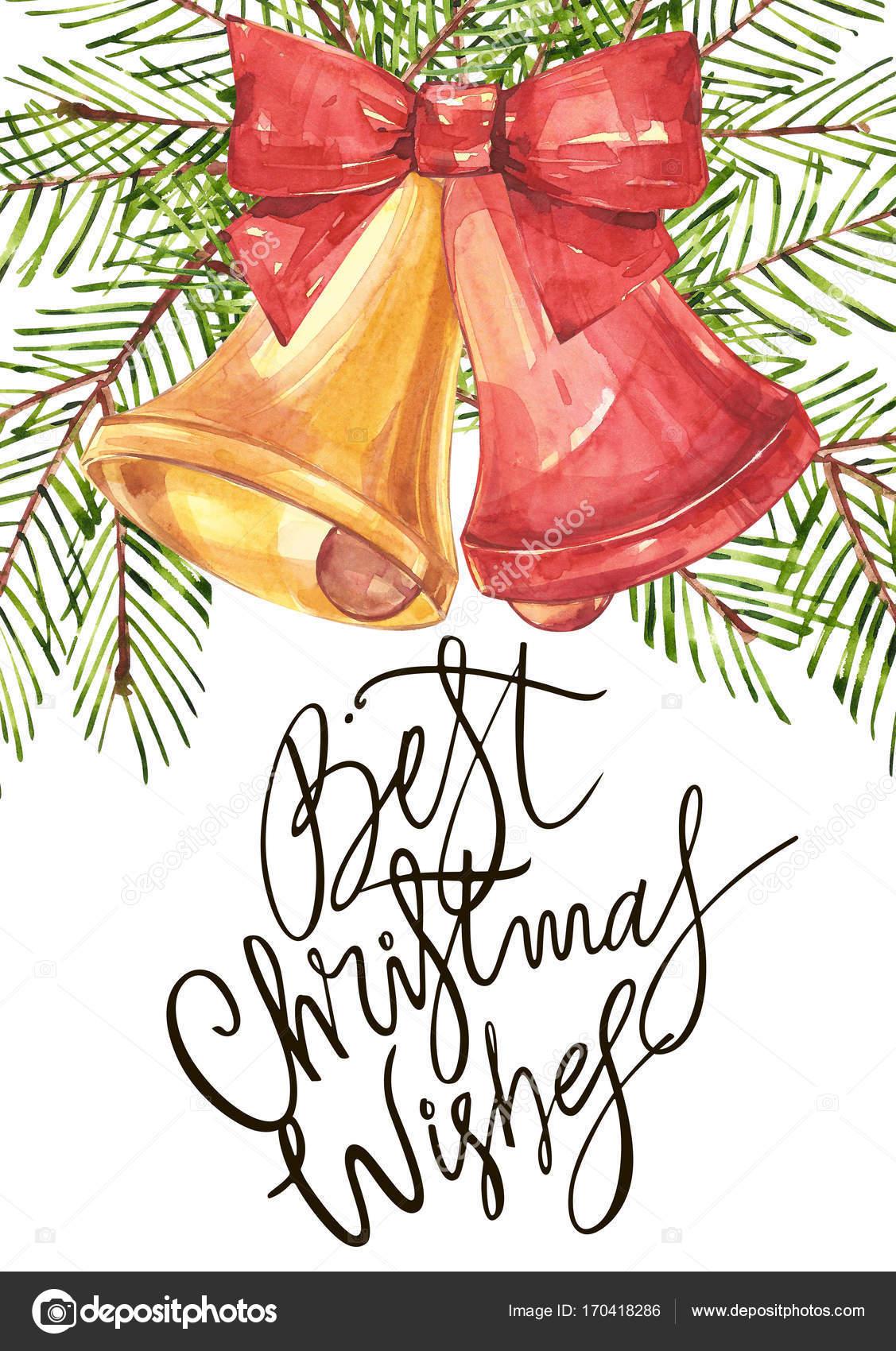 La Mejor Frase De Deseos De Navidad Ilustración De