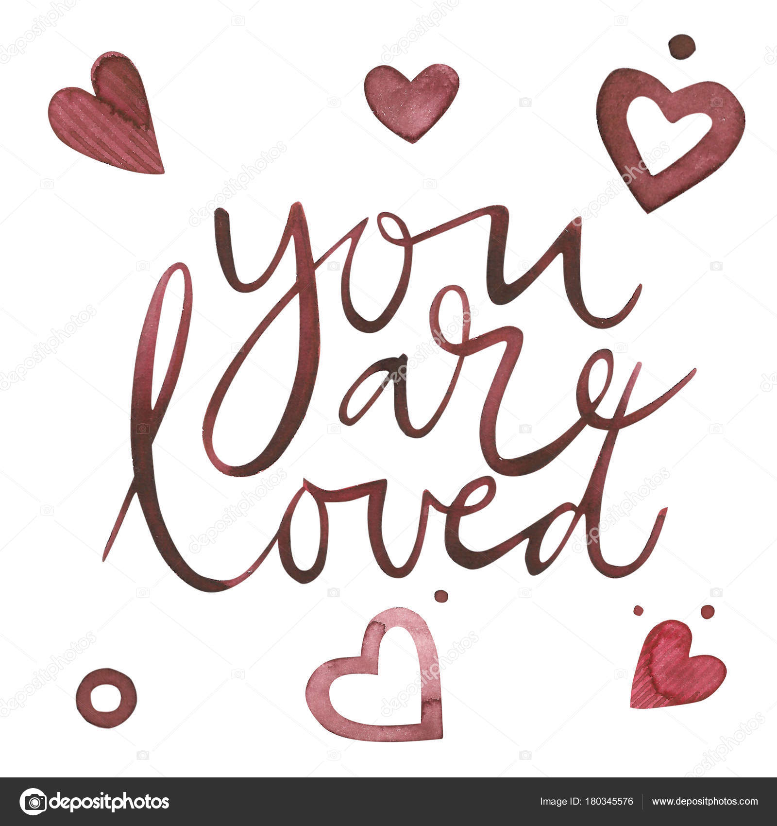 Valentines Day Text You Are Loved Romantic Quote For Design