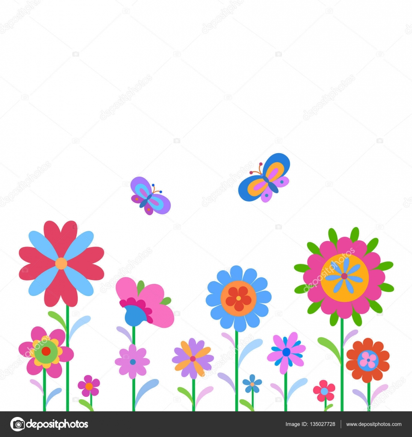 Flores Y Mariposas Infantiles A Color Mariposas Y Flores De