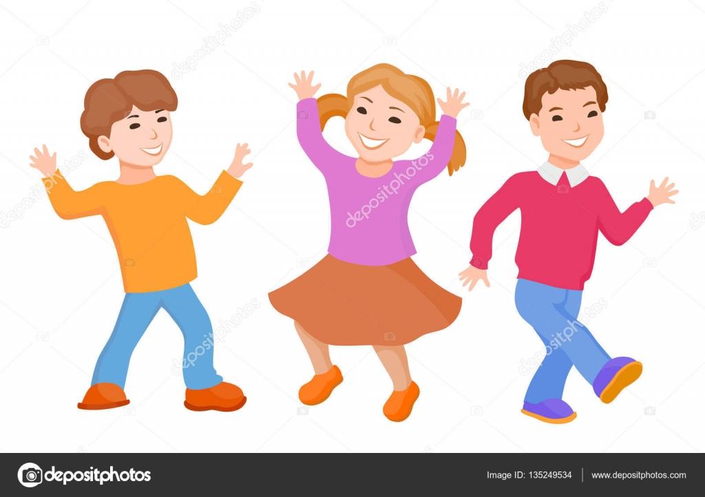 Dibujos Animados De Niños Bailando
