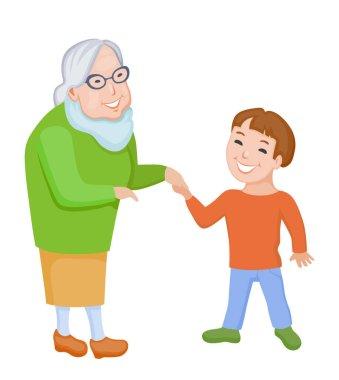 Grandmother with grandson together