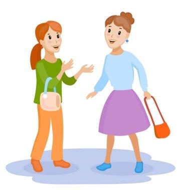 friendly female chatting