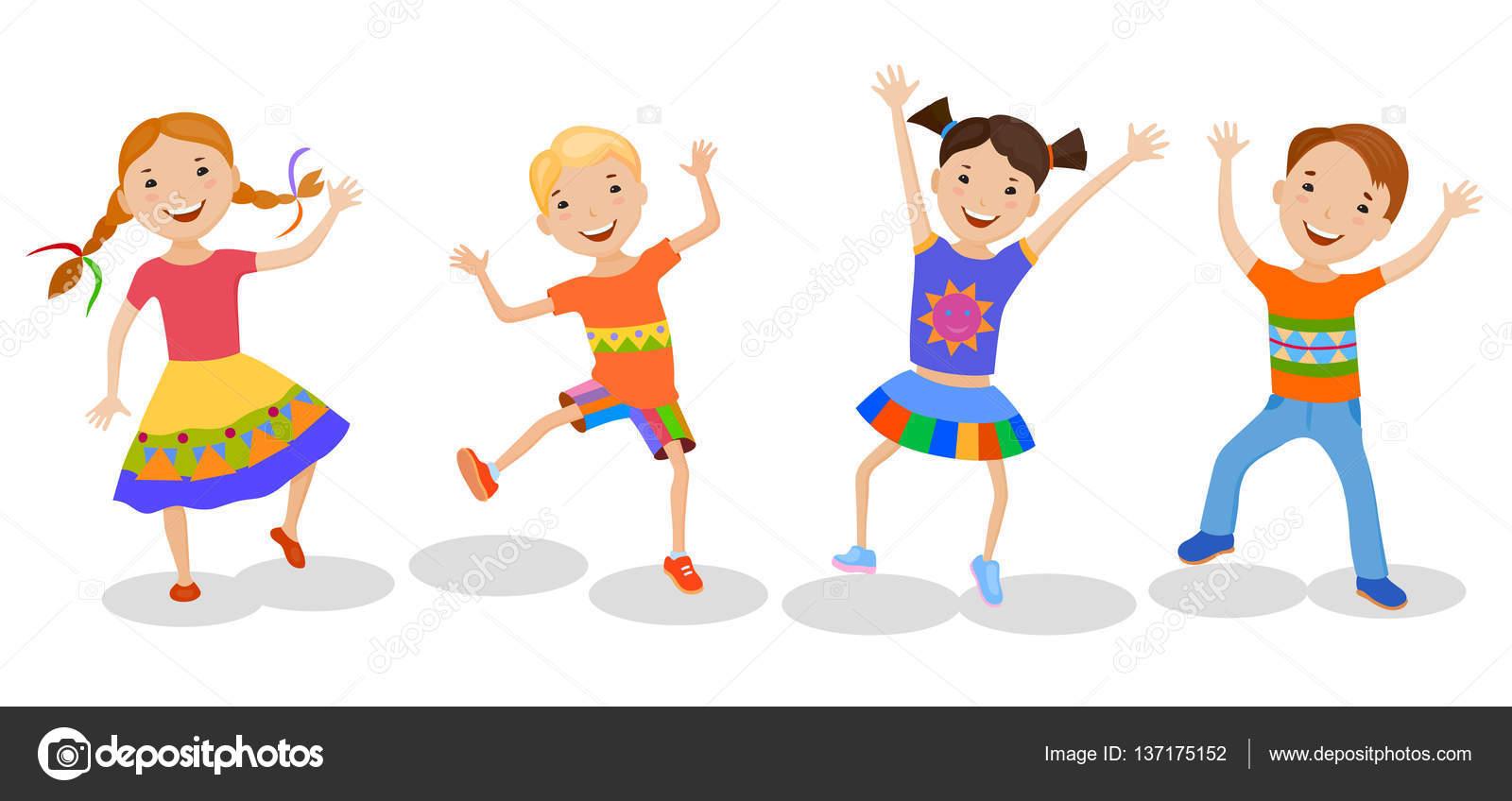 Niños Bailando En Trajes