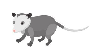 Cute cartoon opossum
