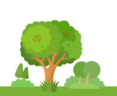 decorative stylized trees