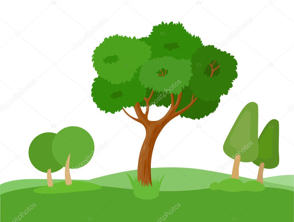 decorative stylized trees