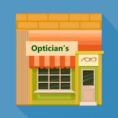 Colorful optics shop