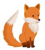 Photo Little cartoon cute fox