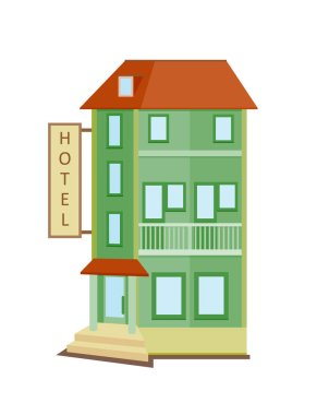 cartoon hotel icon