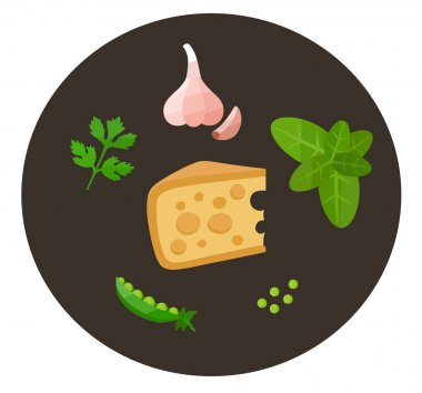 Healthy food icons in flat style