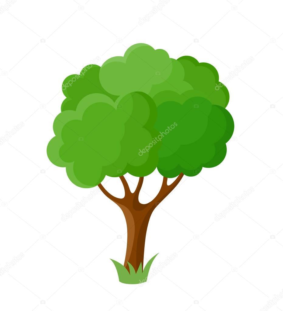 Decorative cartoon tree