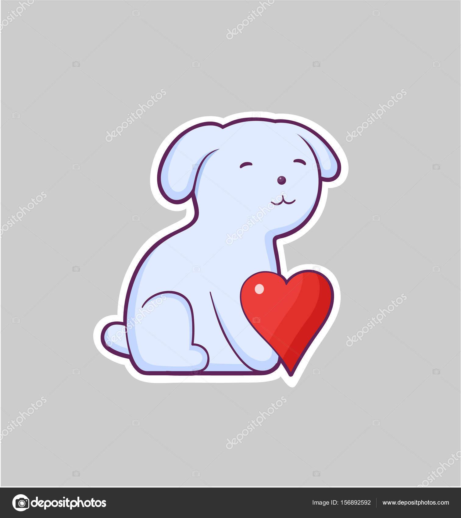 Dog giving heart