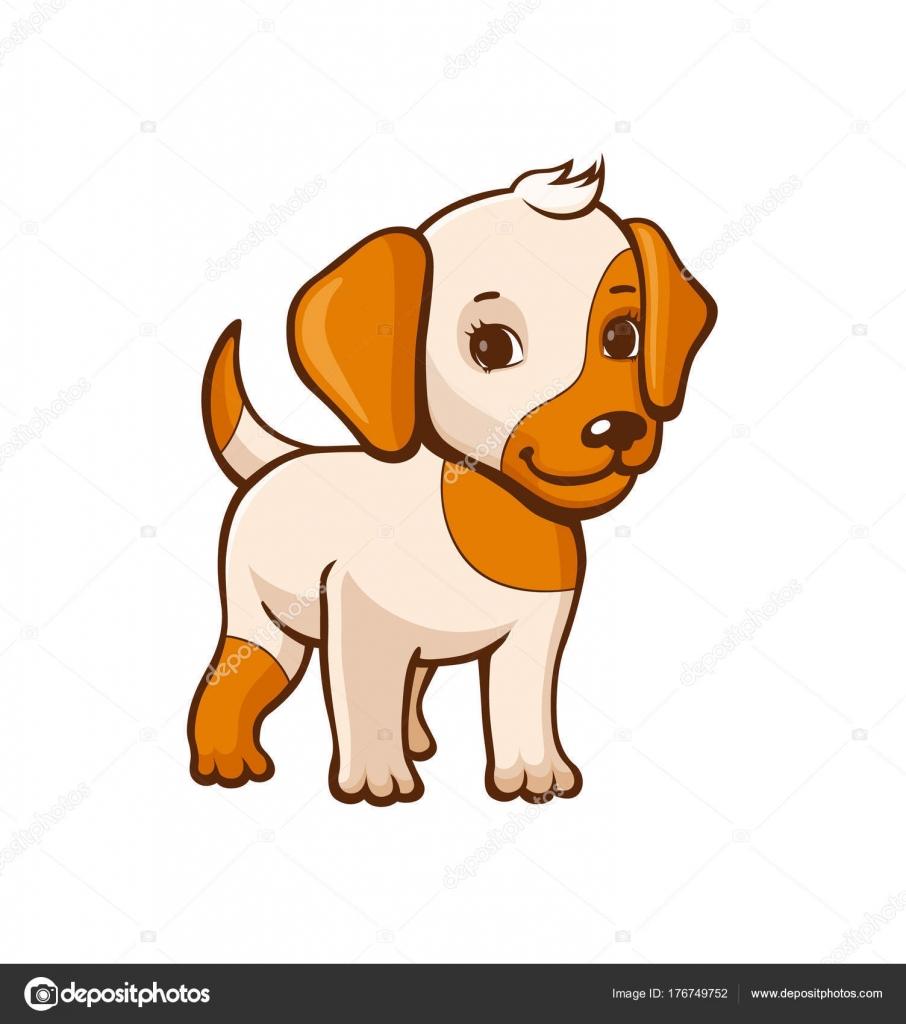 Petit chien de dessin anim image vectorielle polyudova 176749752 - Dessin de petit chien ...