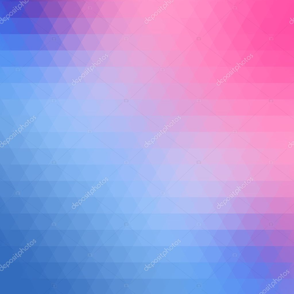 Blue And Pink Triangle Background Can Be Used Us Cover Or