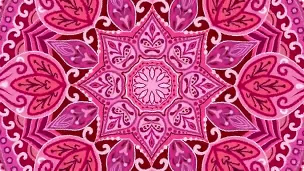 nahtloser Hintergrund rotes Mandala. Zirkelspitze mit magischem Ornament. Indisch, osmanisch, arabisch